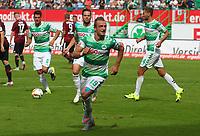 Fotball<br /> Tyskland<br /> Foto: imago/Digitalsport<br /> NORWAY ONLY<br /> <br /> 13.09.2015 - Fussball - Saison 2015 2016 - 2. Fussball - Bundesliga - 06. Spieltag: SpVgg Greuther Fürth Fuerth - 1. FC Nürnberg Nuernberg FCN - / JüRa - Jubel Freude nach Tor zum 1:1 - Veton Berisha (19, SpVgg Greuther Fürth )