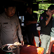 Cambodia, 2014. W.R.R.T. ( Wildlife Rapid Rescue Team ) rangers.