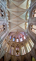 Ceiling panorama at Abbey aux Hommes in Caen, France