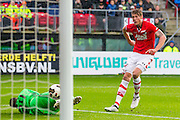 ALKMAAR - 06-11-2016, AZ - Ajax, AFAS Stadion, doelpunt AZ speler Wout Weghorst, 0-1, Ajax keeper Andre Onana