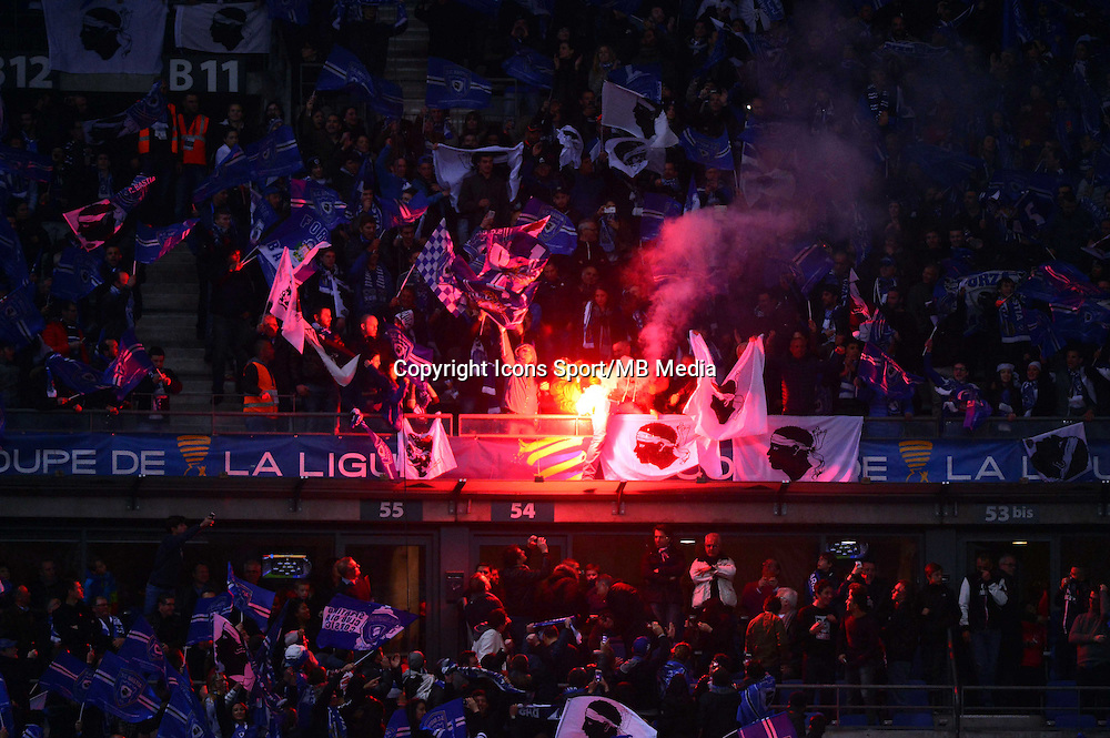 Supporters Bastia    - 11.04.2015 -  Bastia / PSG - Finale de la Coupe de la Ligue 2015<br />