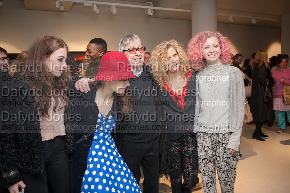 MATILDA WYMAN;KATIE WYMAN,;  BILL WYMAN; SUZANNE WYMAN;  JESSY WYMAN; , BILL WYMAN - REWORKED' , Photographs by Bill Wyman and reworks by Gerald Scarfe, Pam Glew, Dale Marshall, Penny and James Mylne, Rook & Raven Gallery: 7-8 Rathbone Place, London. 26 February 2013