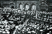 Von Bulow's last speech to the Reichstag, 16 June 1909. Bernhard Heinrich Karl Martin von Bulow (1849-1929) German Foreign Secretary 1897-1909. Responsible for Weltpolitik - colonial expansion. Reichschancellor 1900-1909.