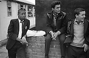 Felix smoking and others in Playground, High Wycombe, UK, 1980s.