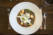Cinnamon Beef with Rice Noodles created by Gary Kucy of Rupert's in McCall Idaho,