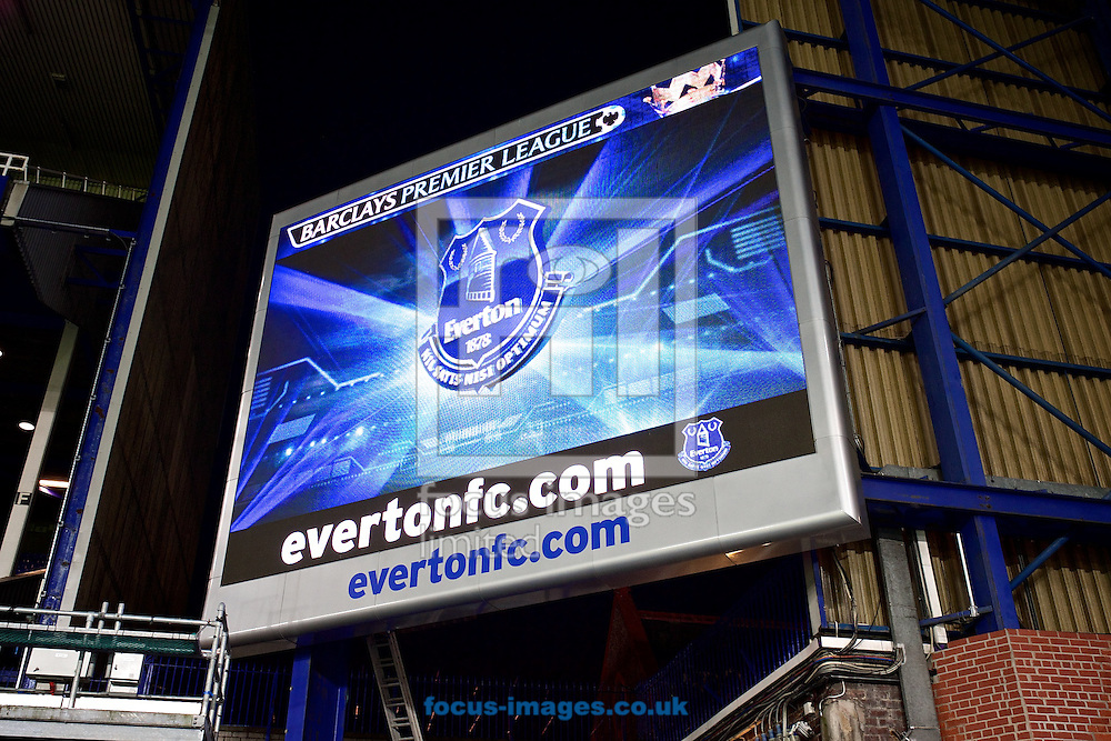 General view of the stadium pictured ahead of the Barclays Premier League match at Goodison Park, Liverpool<br /> Picture by Ian Wadkins/Focus Images Ltd +44 7877 568959<br /> 03/12/2014