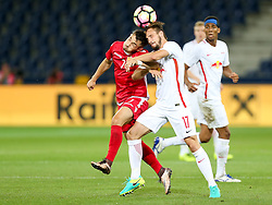 03.08.2016, Red Bull Arena, Salzburg, AUT, UEFA CL Qualifikation, FC Red Bull Salzburg vs FK Partizani Tirana, dritte Runde, Rückspiel, im Bild Realdo Fili (FK Partizani Tirana) und Andreas Ulmer (FC Red Bull Salzburg) //during UEFA Champions League Qualifier 2nd leg, 3rd round match between FC Red Bull Salzburg vs FK Partizani Tirana at the Red Bull Arena in Salzburg, Austria on 2016/08/03. EXPA Pictures © 2016, PhotoCredit: EXPA/ Roland Hackl