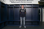 Dundee fan Michael MacDonald models the new Dundee FC home kit - Dundee FC kit 2015-16 launch<br /> <br />  - &copy; David Young - www.davidyoungphoto.co.uk - email: davidyoungphoto@gmail.com