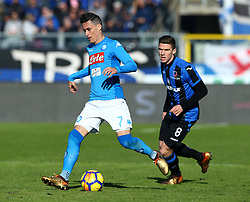 January 21, 2018 - Bergamo, Italy - Jose Maria Callejon of Napoli  during the Italian Serie A football match Atalanta Vs Napoli on January 21, 2018 at the 'Atleti Azzurri d'Italia Stadium' in Bergamo. (Credit Image: © Matteo Ciambelli/NurPhoto via ZUMA Press)
