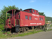 A lone caboose from the now defunct Lehigh Valley Railroad on display in Sayre PA.