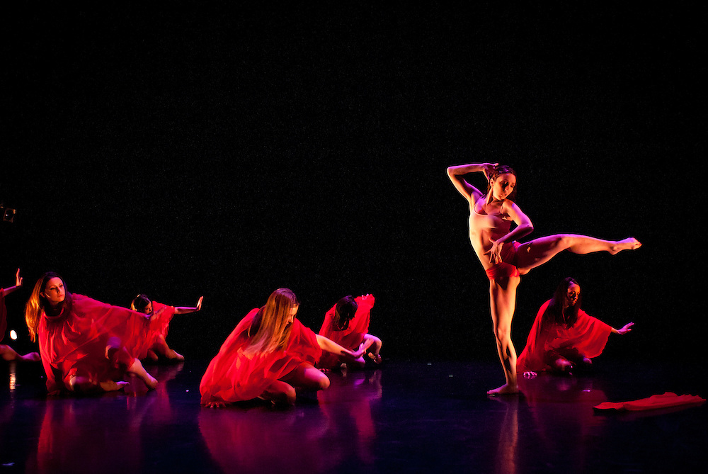 Urbanity Dance, Spring Revue dress rehearsal, at the Boston University Dance Theatre