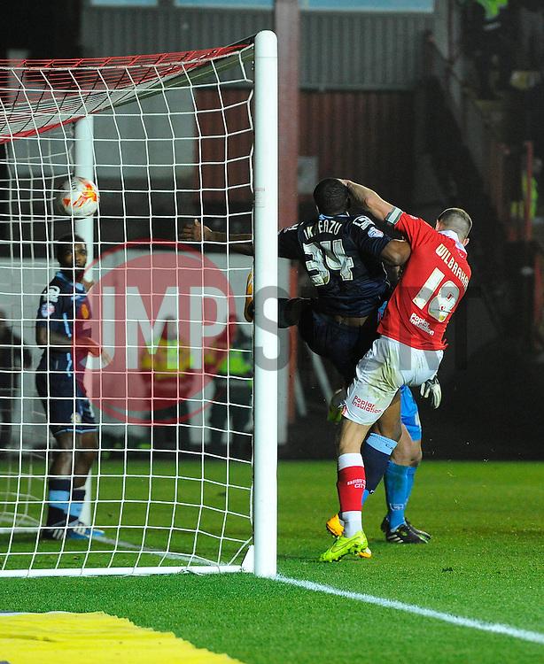 Bristol City's Aaron Wilbraham follows up Bristol City's Aden Flint's header on goal  - Photo mandatory by-line: Joe Meredith/JMP - Mobile: 07966 386802 - 17/03/2015 - SPORT - Football - Bristol - Ashton Gate - Bristol City v Crewe Alexandra - Sky Bet League One