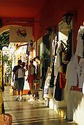 Image of San Jose del Cabo with family shopping along Boulevard Antonio Muares, Baja California Sur, Mexico