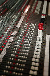 audio sound mixing board