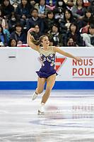 KELOWNA, BC - OCTOBER 25:  Canadian figure skater Veronik Mallet competes at Skate Canada International in the ladies short program at Prospera Place on October 25, 2019 in Kelowna, Canada. (Photo by Marissa Baecker/Shoot the Breeze)
