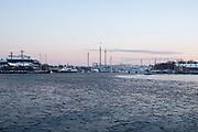STOCKHOLM, SVERIGE - 2018-01-21: Generell vy &ouml;ver Nybroviken den 21 januari 2018 i Stockholm, Sverige. <br /> Foto: Nils Petter Nilsson/Ombrello<br /> ***BETALBILD***