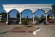Entrance of the Lokomotive museum, Tashkent, Uzbekistan