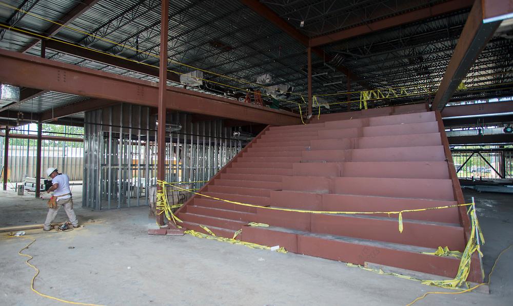 Construction at Parker Elementary School, June 14, 2017.