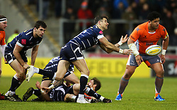 Mike Phillips of Sale Sharks - Mandatory by-line: Matt McNulty/JMP - 10/02/2017 - RUGBY - AJ Bell Stadium - Sale, England - Sale Sharks v Newcastle Falcons - Aviva Premiership