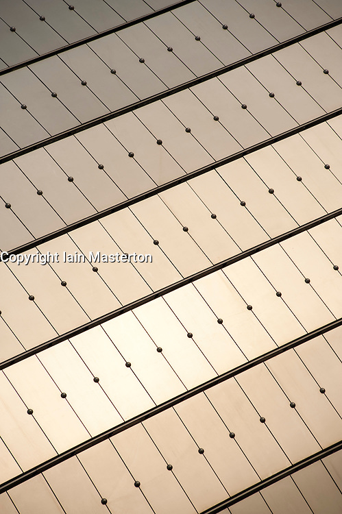 Detail of external roof of the National Grand Theatre in Beijing  designed by architect Paul Andreu 2009