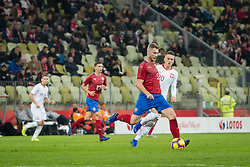 November 15, 2018 - Gdansk, Pomorze, Poland - Jakub Brabec (5) Piotr Zielinski (20) during the international friendly soccer match between Poland and Czech Republic at Energa Stadium in Gdansk, Poland on 15 November 2018  (Credit Image: © Mateusz Wlodarczyk/NurPhoto via ZUMA Press)