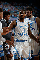 CHAPEL HILL, NC - FEBRUARY 05: Seventh Woods #0 of the North Carolina Tar Heels plays during a game against the North Carolina State Wolfpack on February 05, 2019 at the Dean Smith Center in Chapel Hill, North Carolina. North Carolina won 113-96. North Carolina wore retro uniforms to honor the 50th anniversary of the 1967-69 team. (Photo by Peyton Williams/UNC/Getty Images) *** Local Caption *** Seventh Woods