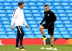 Marco Verratti of PSG carries out a fitness test  - Mandatory byline: Matt McNulty/JMP - 07966386802 - 11/04/2016 - FOOTBALL - Manchester City v PSG - Etihad Stadium -Manchester,England - UEFA Champions League