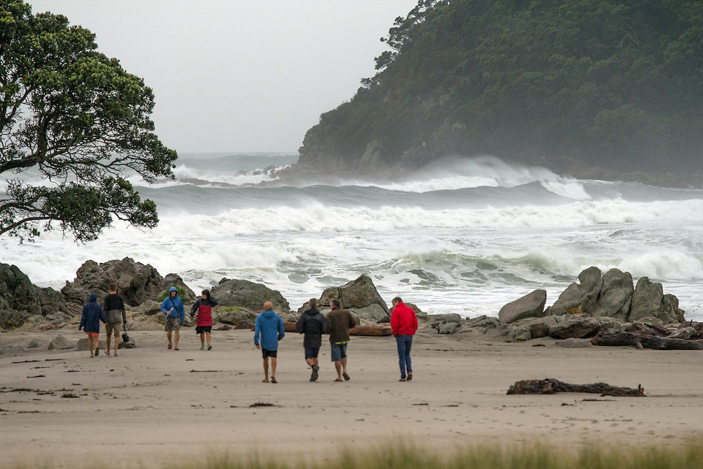 High waves hit Mt Maunganui Beach as Cyclone Pam moves across the East Coast, Tauranga, New Zealand, Monday March 16, 2015. Credit:SNPA / Cameron Avery