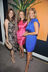 Left to right, ELIZABETH HORNE, MARIA HATZISTEFANIS and ELENA MAKRI LIBERIS at a party to celebrate the publication of Elena Makri Liberis's book 'Every Month, Same day' held at Sotheby's, 34-35 New Bond Street, London on 5th May 2009.