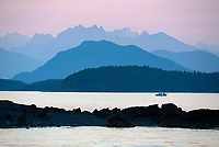 Coast Mountains near Eldred Rock Lighthouse in Lynn Canal, Southeast Alaska.