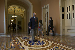 April 28, 2017 - Washington, District Of Columbia, USA - Senate Republican Leader MITCH MCCONNELL (R-KY) leaves the senate floor after voting on the CR. on April 18th, 2017 at the U.S. Capitol in Washington, D.C. (Credit Image: © Alex Edelman via ZUMA Wire)
