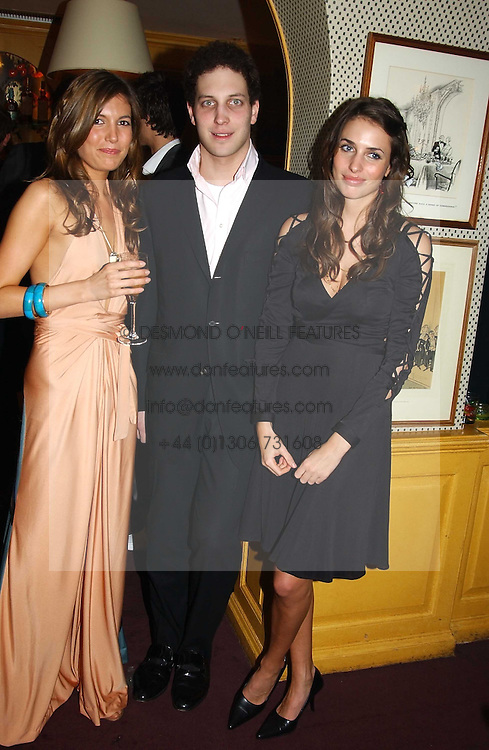 Left to right, AMANDA SHEPPARD, LORD FREDERICK WINDSOR and MARINA HANBURY at a private dinner and presentation of Issa's Autumn-Winter 2005-2006 collection held at Annabel's, 44 Berkeley Square, London on 15th March 2005.<br />