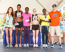 41st Falmouth Road Race: top women, Adrienne Herzog, Diane Nukuri-Johnson, Linet Masai, Gemma Steel, Joyce Chepkirui