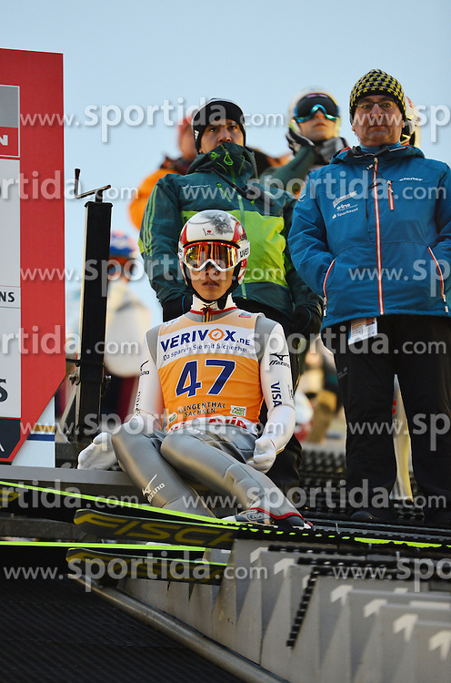 21.11.2014, Vogtland Arena, Klingenthal, GER, FIS Weltcup Ski Sprung, Klingenthal, Herren, HS 140, Qualifikation, im Bild Taku Takeuchi (JPN) // during the mens HS 140 qualification of FIS Ski jumping World Cup at the Vogtland Arena in Klingenthal, Germany on 2014/11/21. EXPA Pictures &copy; 2014, PhotoCredit: EXPA/ Eibner-Pressefoto/ Harzer<br /> <br /> *****ATTENTION - OUT of GER*****