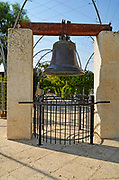 Replica of the American Liberty Bell in the center of Gan Hapaamon park.Liberty Bell Park, Jerusalem, Israel