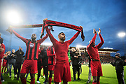 &Ouml;STERSUND, SWEDEN - AUGUST 24: Saman Ghoddos of Oestersunds FK celebrates after the victory during the UEFA Europa League Qualifying Play-Offs round second leg match between &Ouml;stersunds FK and PAOK Saloniki at J&auml;mtkraft Arena on August 24, 2017 in &Ouml;stersund, Sweden. Foto: Nils Petter Nilsson/Ombrello<br /> ***BETALBILD***
