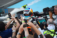 Daniel Ricciardo of Red Bull celebrates winning the Azerbaijan Formula One Grand Prix at Baku City Circuit, Baku<br /> Picture by EXPA Pictures/Focus Images Ltd 07814482222<br /> 25/06/2017<br /> *** UK &amp; IRELAND ONLY ***<br /> <br /> EXPA-EIB-170625-0056.jpg