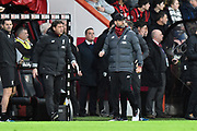 Liverpool manager Jurgen Klopp during the Premier League match between Bournemouth and Liverpool at the Vitality Stadium, Bournemouth, England on 7 December 2019.
