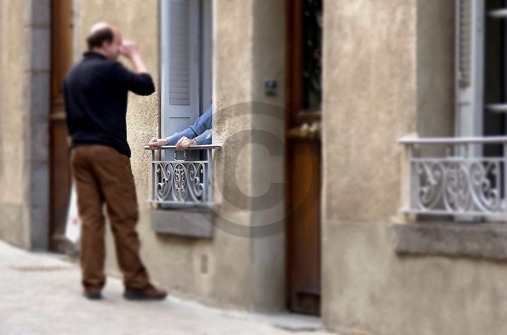 03/10/01 - CLERMONT FERRAND - PUY DE DOME - FRANCE - Quartier Saint Alyre - Photo Jerome CHABANNE
