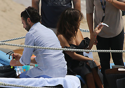 Eva Longoria Kissing husband Josè Baston on their wedding anniversary. 23 May 2017 Pictured: Eva Longoria. Photo credit: Ale / MEGA TheMegaAgency.com +1 888 505 6342