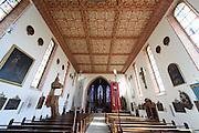 Pfarrkirche St. Johann innen in Hagnau, Bodensee, Baden-Württemberg, Deutschland