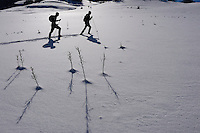 Snowshoeing, Deli Saavedra and Neil Birnie, Rewilding Europe, Central Apennines, Italy