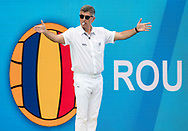 Referee<br /> ROU - SVK<br /> Roumania (white caps) vs Slovakia (blue caps) <br /> Barcelona 18/07/18 Piscines Bernat Picornell <br /> Men qualification<br /> 33rd LEN European Water Polo Championships - Barcelona 2018 <br /> Photo Giorgio Scala/Deepbluemedia/Insidefoto