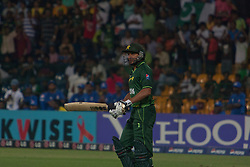 ©London News Pictures. 19/03/2011.Pakistani captain Shahid 'Boom Boom' Afridi comes out to bat at R.Premadasa Stadium Colombo Sri Lanka