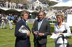 Left to right, CHARLES GORDON-WATSON and Trainer LUCA CUMANI at the 4th day of the Glorious Goodwood racing festival 2007 held at Goodwood Racecourse, West Sussex on 3rd August 2007.<br /><br />NON EXCLUSIVE - WORLD RIGHTS