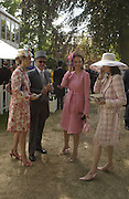 Princess Corinna Sayn-Wittgenstein, Winston Churchill, Kate Elaessens and Bernadette Lejeune, Ascot, Tuesday 15 June 2004. ONE TIME USE ONLY - DO NOT ARCHIVE  © Copyright Photograph by Dafydd Jones 66 Stockwell Park Rd. London SW9 0DA Tel 020 7733 0108 www.dafjones.com