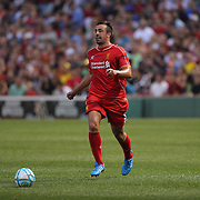 José Enrique, Liverpool, in action during the Liverpool Vs AS Roma friendly pre season football match at Fenway Park, Boston. USA. 23rd July 2014. Photo Tim Clayton