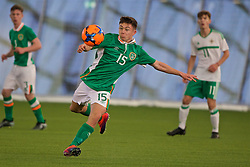 EDINBURGH, SCOTLAND - Tuesday, November 1, 2016: Republic of Ireland's Adam O'Reilly in action against Northern Ireland during the Under-16 2016 Victory Shield match at ORIAM. (Pic by David Rawcliffe/Propaganda)