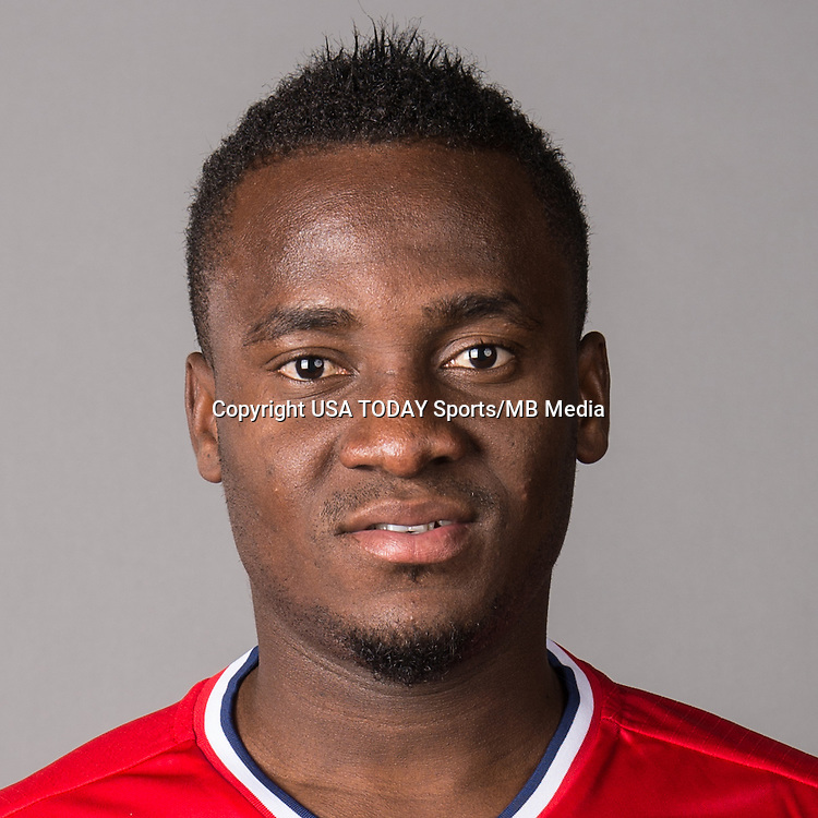Feb 25, 2016; USA; Chicago Fire player David Accam poses for a photo. Mandatory Credit: USA TODAY Sports