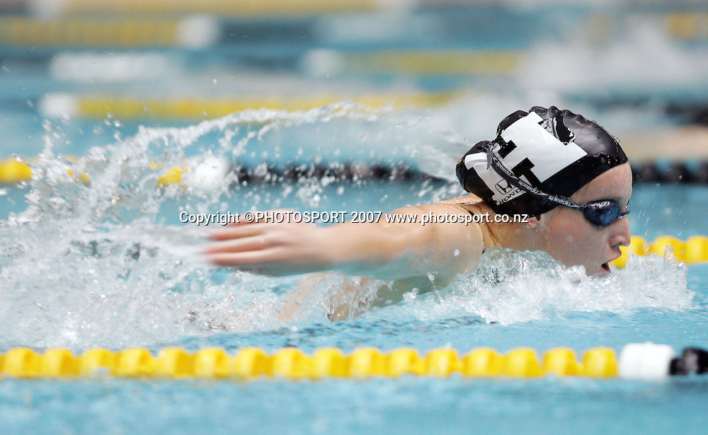 Julia Wright. New Zealand Swimming Spring Competition. Wellington Regional Aquatic Centre, Wellington, New Zealand. Tuesday 25 September 2007. Photo: Hagen Hopkins/PHOTOSPORT